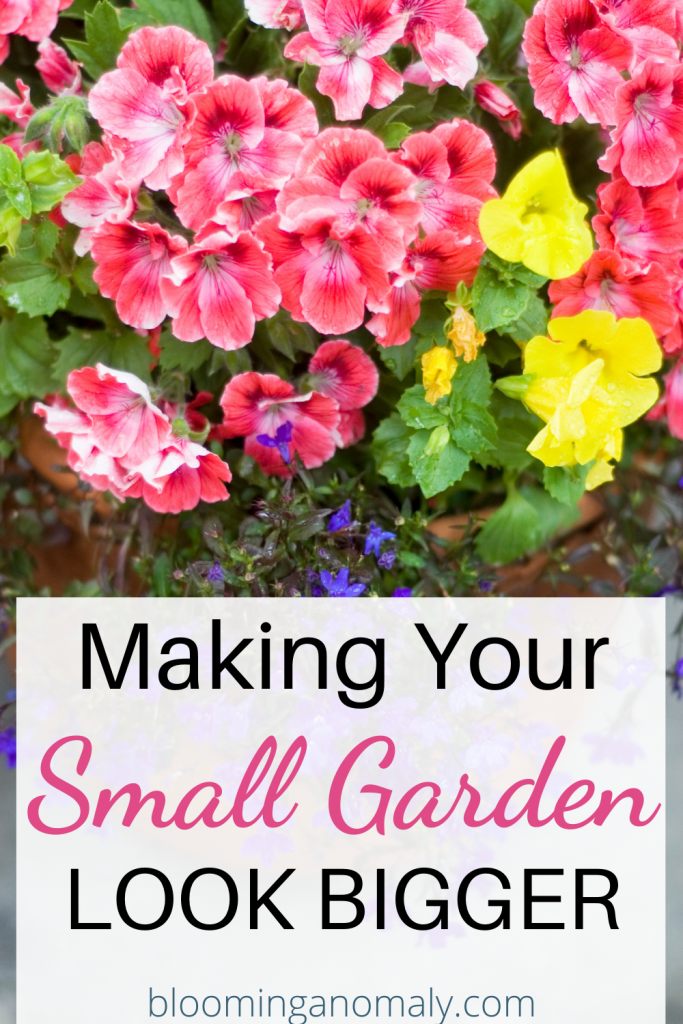making your small garden look bigger