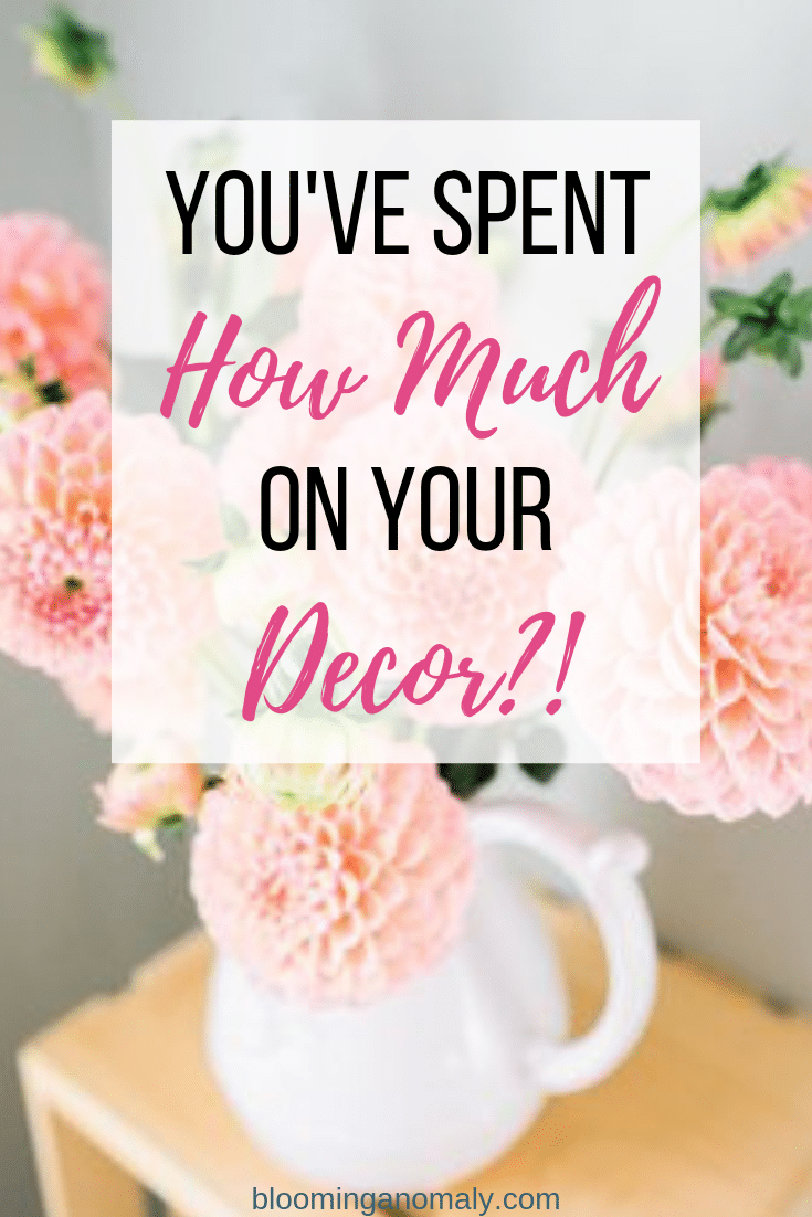 You've Spent How Much On Your Decor?! pink flowers in vase